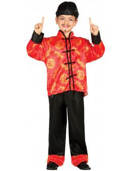 Disfraz de Chino Rojo para Niño