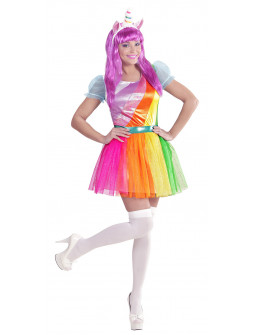 Disfraz de Unicornio Arcoiris para Mujer