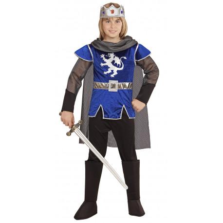 Disfraz de Rey Arturo Azul para Niño
