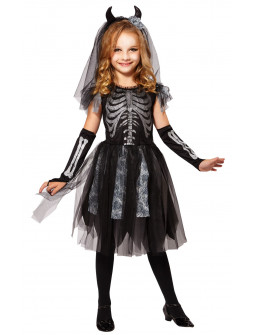 Disfraz de Novia Esqueleto para Niña