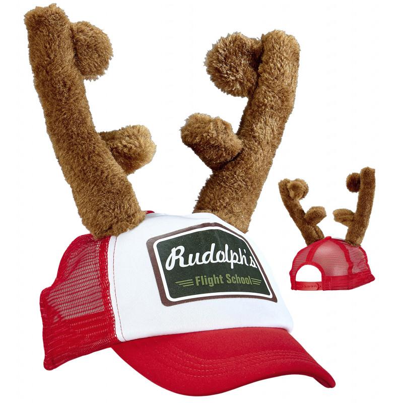 Gorra de Rudolf con Cuernos de Reno  722eafae2f6