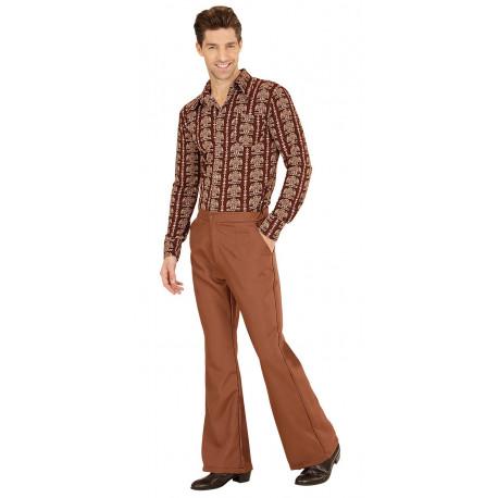 Pantalon De Campana Marron Anos 70 Para Hombre Comprar
