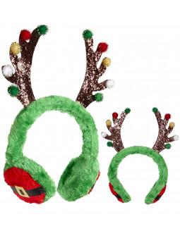 Orejeras de Reno de Papá Noel