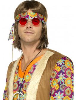 Gafas Redondas de Hippie Rojas