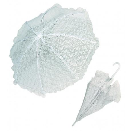 Sombrilla blanca de encaje