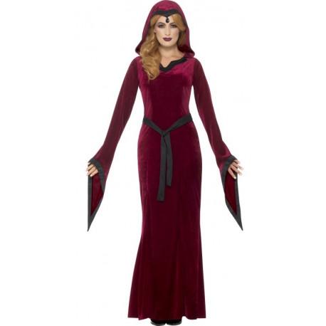 Disfraz de Bruja Medieval Roja