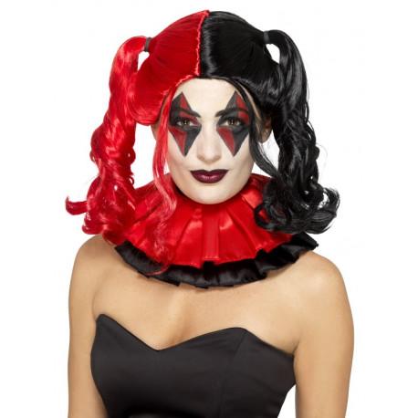 Peluca Harley Quinn Roja y Negra