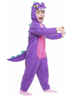 Disfraz de Dragón Morado y Rosa Infantil