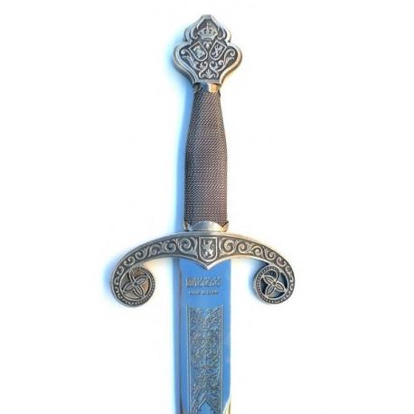 Espada Alfonso X en Plateada Envejecida Natural