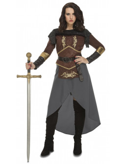 Disfraz de Princesa Guerrera Medieval para Mujer
