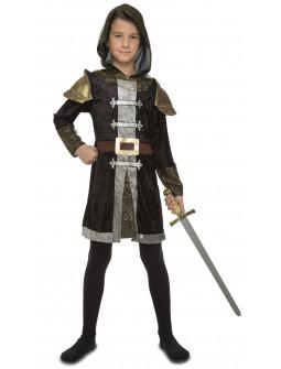 Disfraz de Caballero Medieval Oscuro para Niño