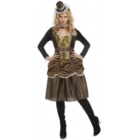 Disfraz de Damisela Steampunk para Mujer