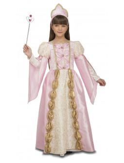 Disfraz de Reina Rosa para Niña