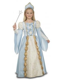 Disfraz de Reina Azul para Niña