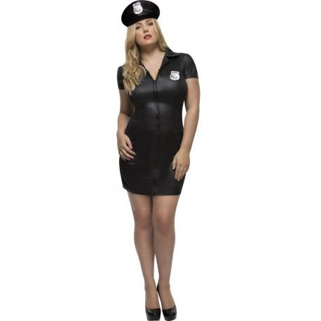 Disfraz de Policía en Talla Grande para Mujer