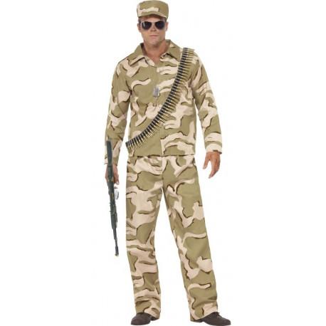 Disfraz de Comando Militar del Desierto para Hombre
