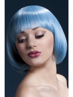 Peluca Azul Pastel con Flequillo Premium