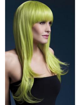 Peluca Verde Pastel Larga con Flequillo Premium