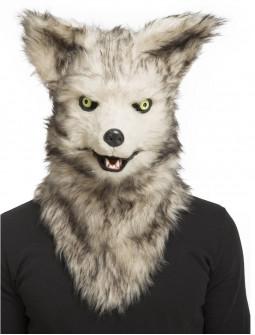 Máscara de Lobo con Mandíbula Móvil