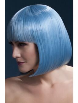 Peluca Azul Pastel Lisa con Flequillo Premium