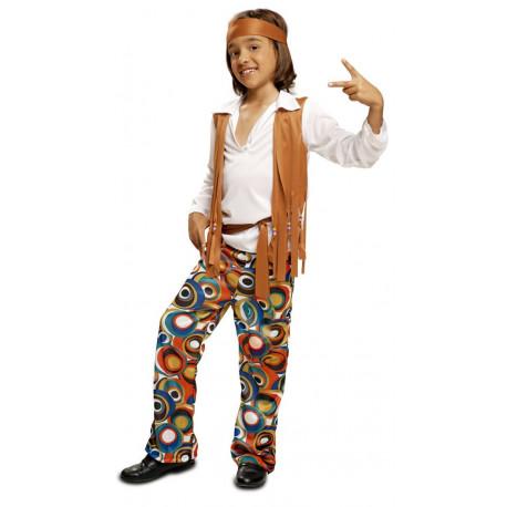 Disfraz de Hippie con Chaleco para Niño