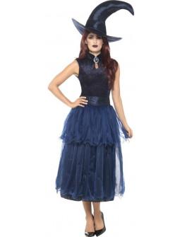 Disfraz de Bruja Azul Oscuro para Mujer