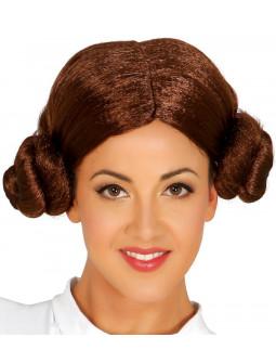 Peluca Marrón de la Princesa Leia