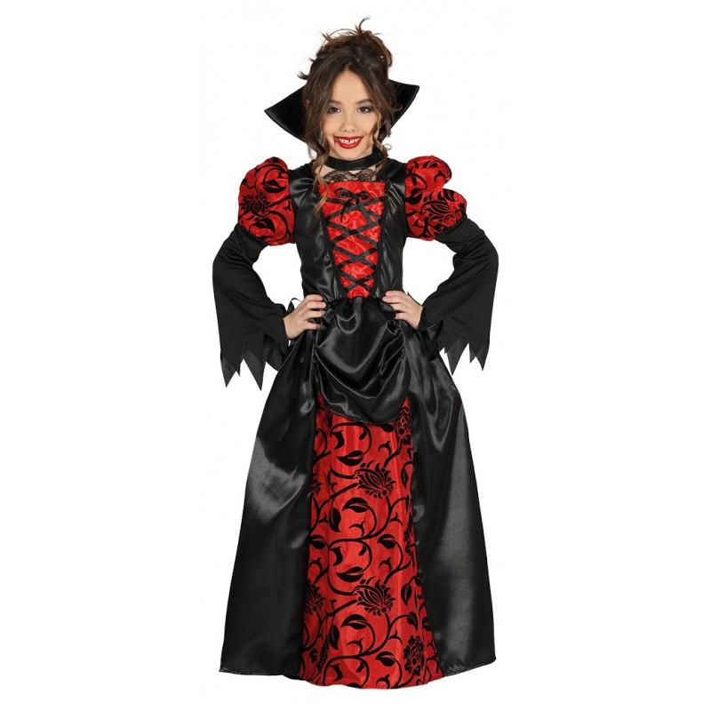 Disfraz de Vampiresa Gótica Roja y Negra Infantil  86d08955f31