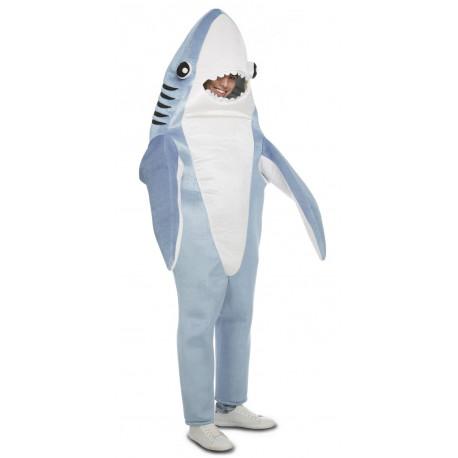 Disfraz de Tiburón Azul para Adulto