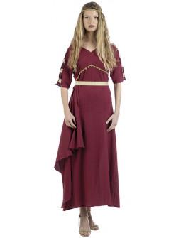Disfraz de Aldeana Romana Granate para Mujer