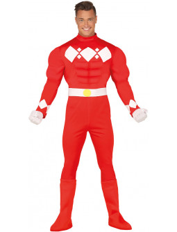 Disfraz de Power Ranger Rojo para Adulto