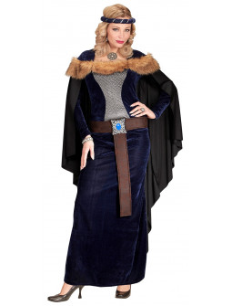 Disfraz de Princesa Medieval Azul Oscuro para Mujer