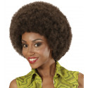 Peluca Afro Marrón Oscuro