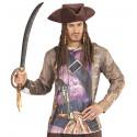 Sombrero Pirata de Polipiel con Rastas