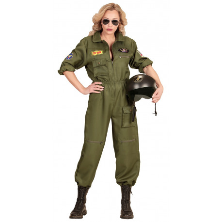 Disfraz de Piloto de Combate para Mujer