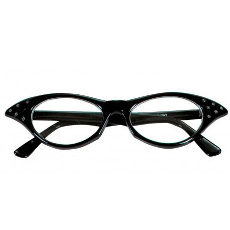 Gafas Negras Años 50 con Brillantes