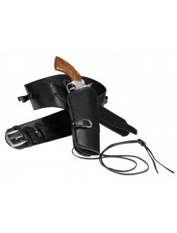 Cinturón Negro con Cartuchera Premium