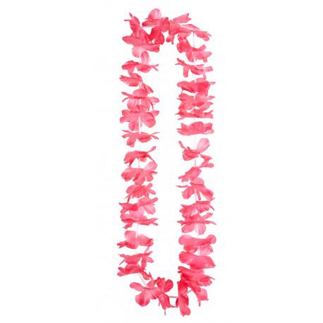 Collar Hawaiano de Flores Rosas