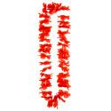 Collar Hawaiano de Flores Rojas
