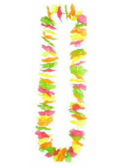 Collar Hawaiano de Flores Fluorescentes