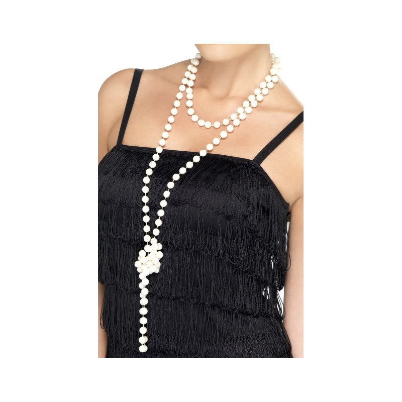 79a5f99be172 Collar de Perlas Blancas Largo de Charlestón
