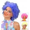 Peluca peluche florescente en colores