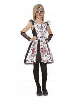 Disfraz de Catrina Blanca para Niña