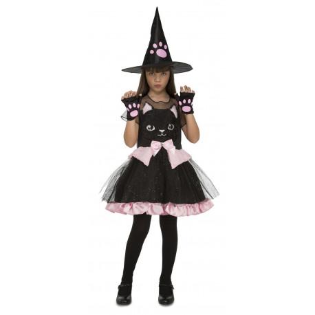 Disfraz de Bruja Gato Negro para Niña