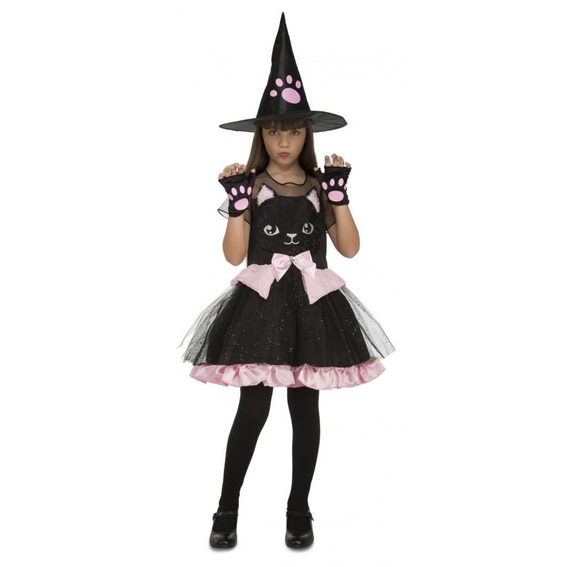Disfraz de Bruja Gato Negro para Niña | Comprar Online