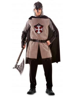 Disfraz de Guerrero Medieval Oscuro para Hombre