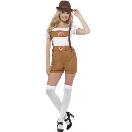 Disfraz de Alemana Marrón con Pantalón para Mujer