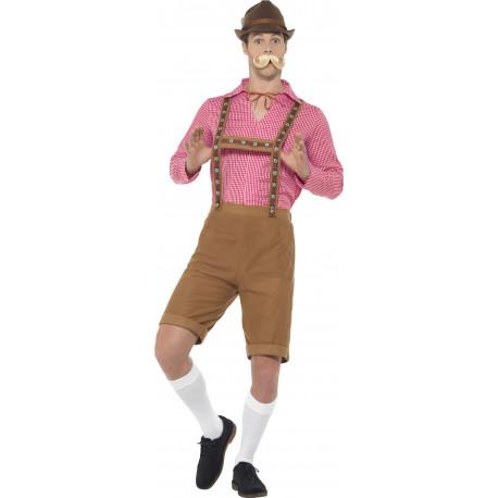 Disfraz de Alemán con Camisa Roja para Hombre