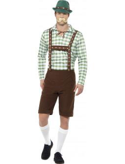Disfraz de Alemán Camisa Verde para Hombre