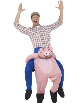 Disfraz de Cerdo con Granjero a Hombros